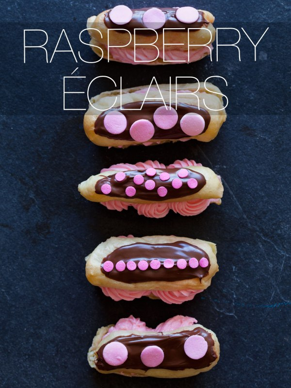 raspberry-eclairs
