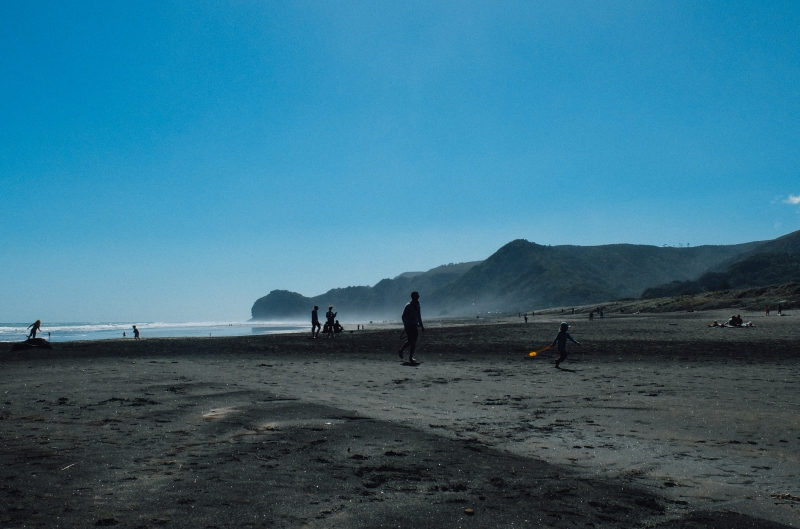 piha beach, new zealand, auckland